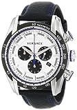 Versace Reloj Cronógrafo para Hombre de Cuarzo con Correa en Cuero VDB01-0014